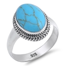 Silver Ring W/ Stone - $11.46