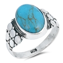 Silver Ring W/ Stone - $12.16