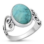 Silver Ring W/ Stone - $10.99