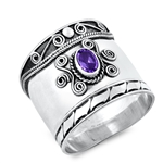 Silver Ring W/ Stone - $10.37