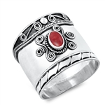 Silver Ring W/ Stone - $9.52