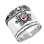 Silver Ring W/ Stone - $9.64