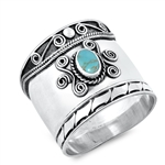 Silver Ring W/ Stone - $10.07
