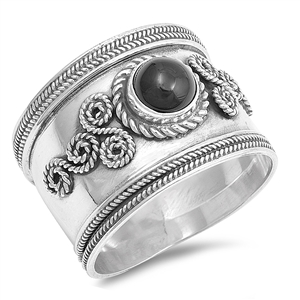 Silver Ring W/ Stone - $8.90