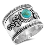Silver Ring W/ Stone - $8.99