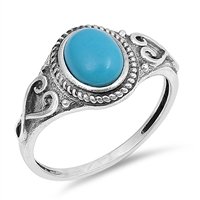 Silver Ring W/ Stone - $4.82