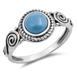 Silver Ring W/ Stone - $4.48