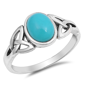 Silver Ring W/ Stone - $4.24