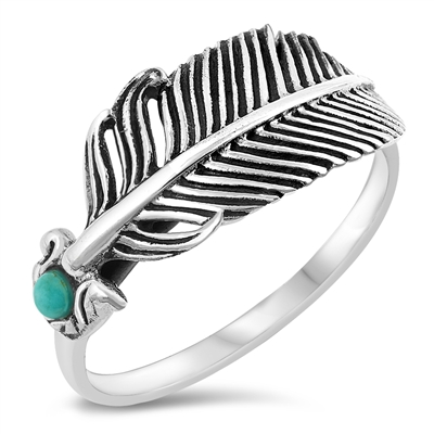 Silver Ring - Feather - $5.75