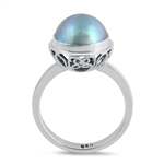 Silver Stone Ring - Mabe Pearl - $8.37