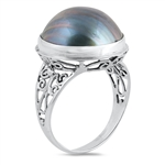Silver Stone Ring - Mabe Pearl - $8.56