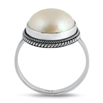 Silver Stone Ring - Mabe Pearl - $7.95