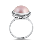 Silver Stone Ring - Mabe Pearl - $8.25