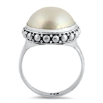 Silver Stone Ring - Mabe Pearl - $8.95