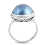 Silver Stone Ring - Mabe Pearl - $8.50