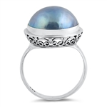 Silver Stone Ring - Mabe Pearl - $8.68