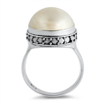 Silver Stone Ring - Mabe Pearl - $8.65