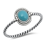 Silver Ring w/ Stone - $2.25