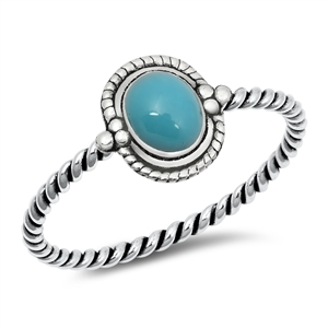 Silver Ring w/ Stone - $2.52