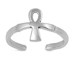 Silver Toe Ring - Ankh