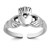 Silver Toe Ring - Claddagh