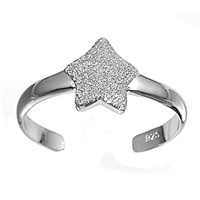 Silver Toe Ring - Star