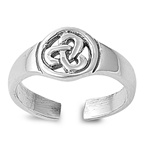 Silver Toe Ring - Celtic Design