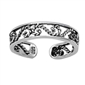 Silver Toe Ring - Filigree