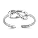Silver Toe Ring - Knot