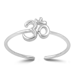 Silver Toe Ring - Om Sign