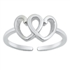 Silver Toe Ring - Heart