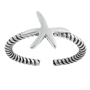 Silver Toe Ring - Starfish