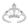 Silver Toe Ring - Crown