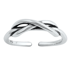 Silver Toe Ring - Infinity