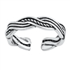 Silver Toe Ring - Braid