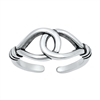 Silver Toe Ring - Loop