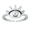 Silver Toe Ring - Eye