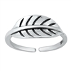 Silver Toe Ring - Leaf