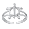 Silver Toe Ring - Turtle