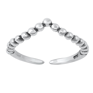 Silver Toe Ring - V Shape