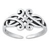 Silver Toe Ring - Celtic