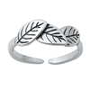 Silver Toe Ring - Leaves