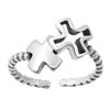 Silver Toe Ring - Crosses