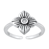 Silver Toe Ring - Flower