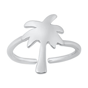 Silver Toe Ring - Palm Tree