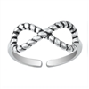 Silver Toe Ring - Infinity Rope