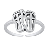 Silver Toe Ring - Feet