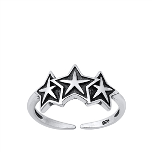 Silver Toe Ring - Stars