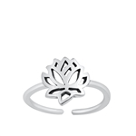Silver Toe Ring - Lotus