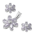 Silver Sets W/ CZ - Flower